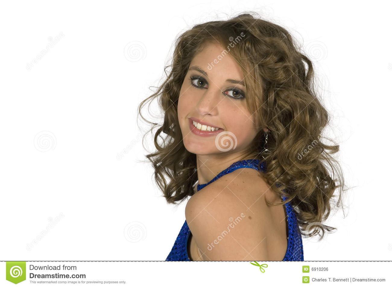 classy teen brunette model head shoulders royalty stock image image