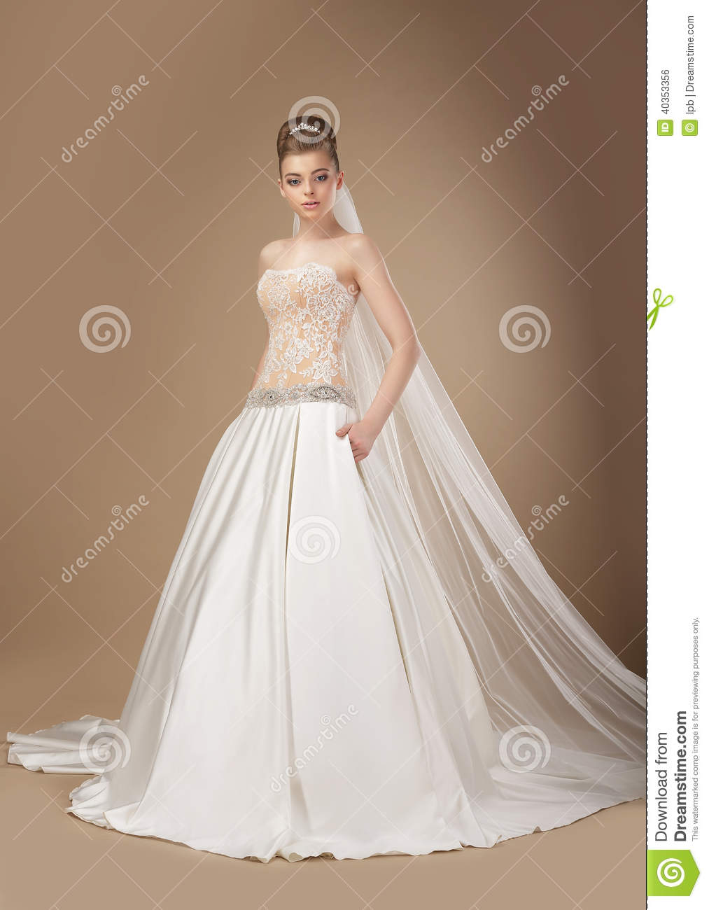 Classy And Elegant Black And White Flooring Design Ideas: Classy Woman In Long Elegant Dress Posing Stock Photo