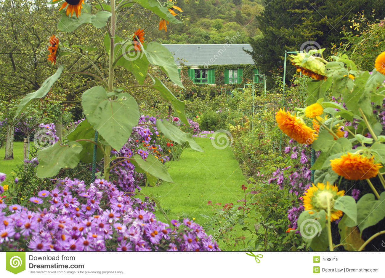 Claude Monet 39 S Home In Giverny France Royalty Free Stock