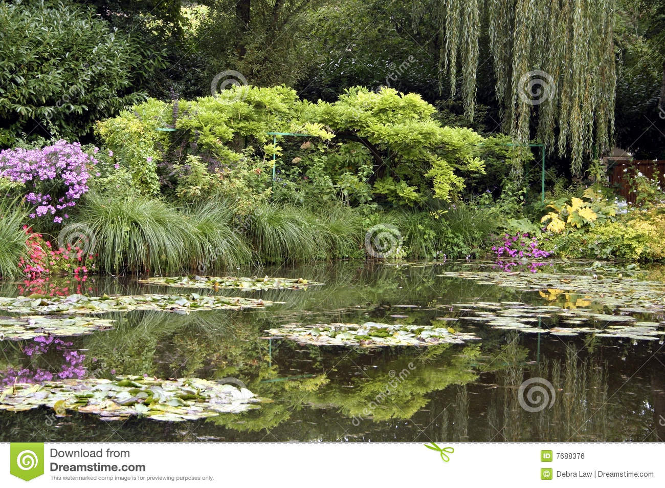 Claude Monet 39 S Home In Giverny France Stock Photo Image