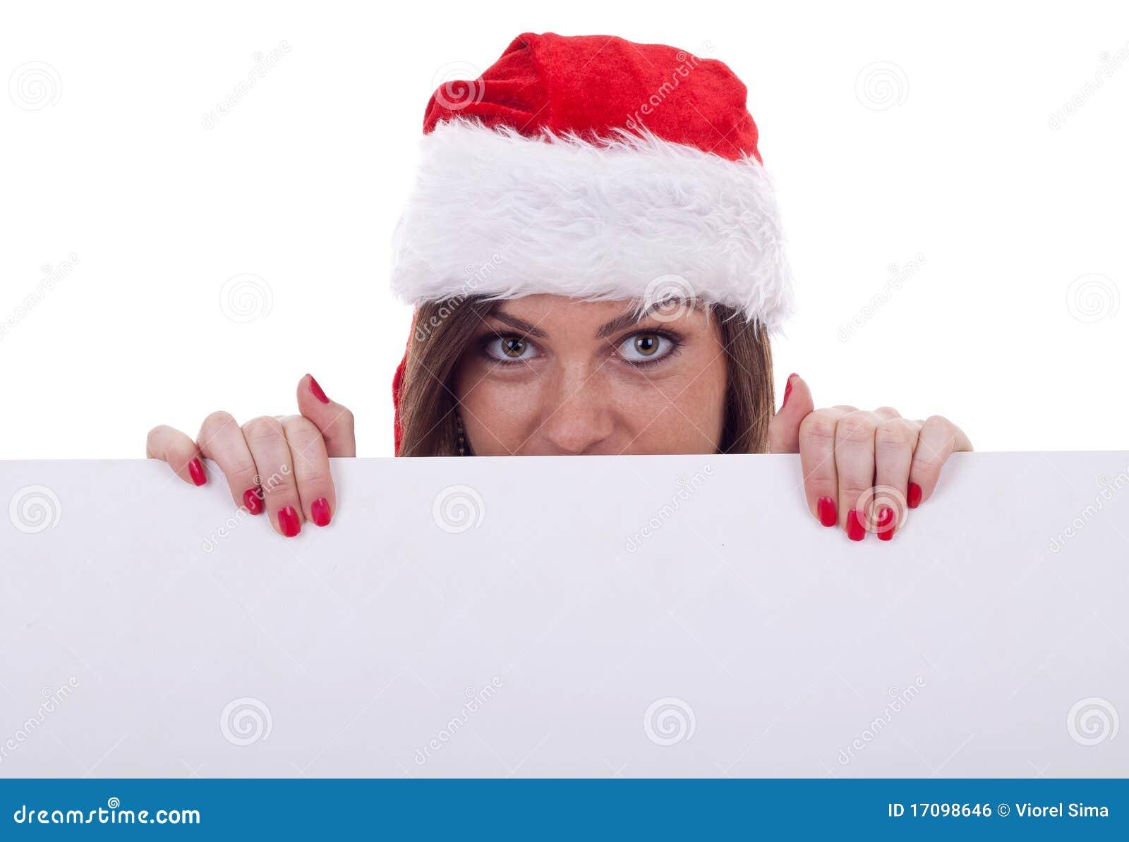 Claus hidding женщина santa