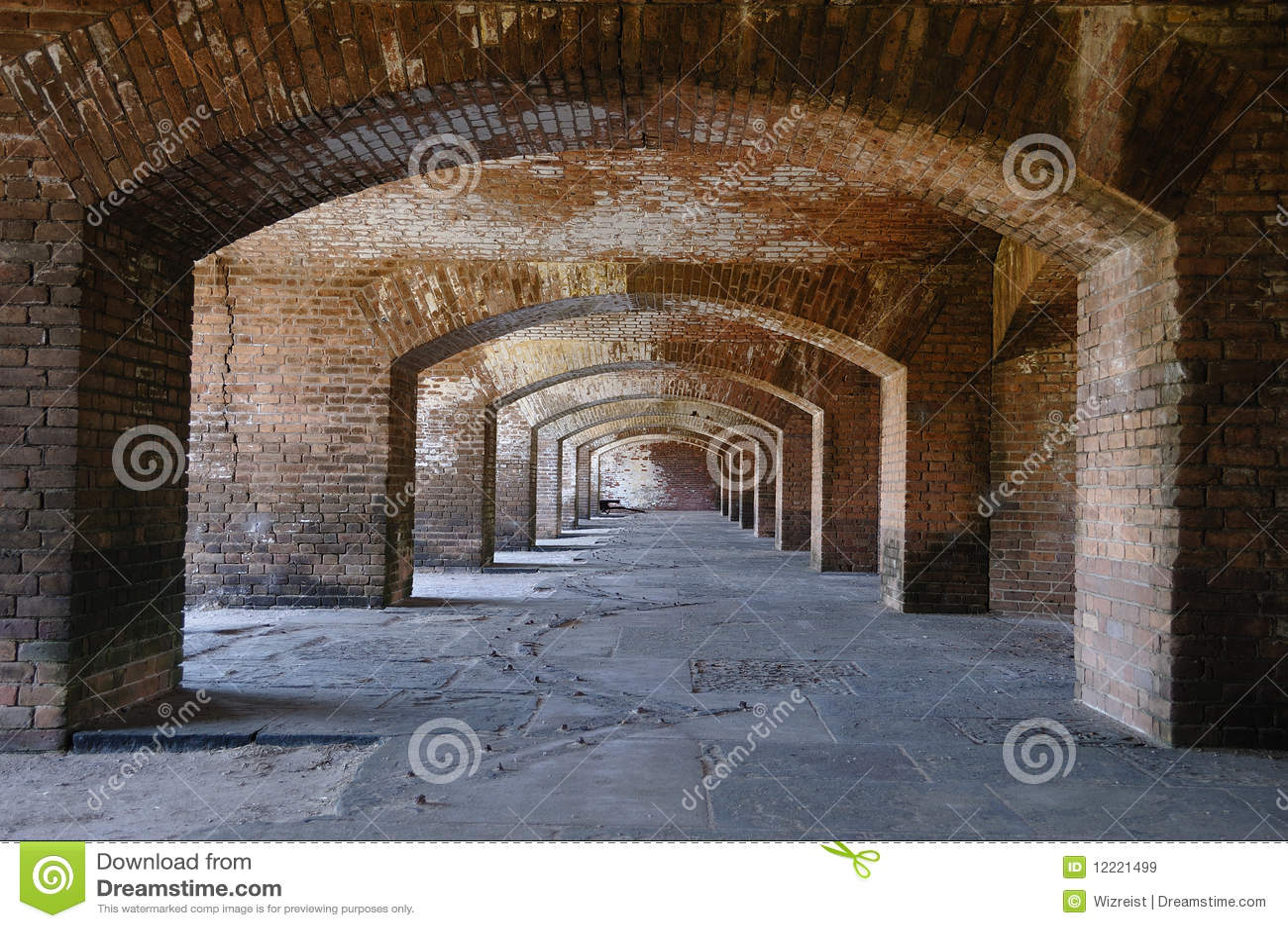 Claustros de Jefferson de la fortaleza