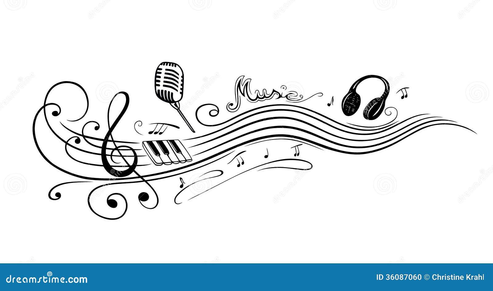 Clave, notas de la música