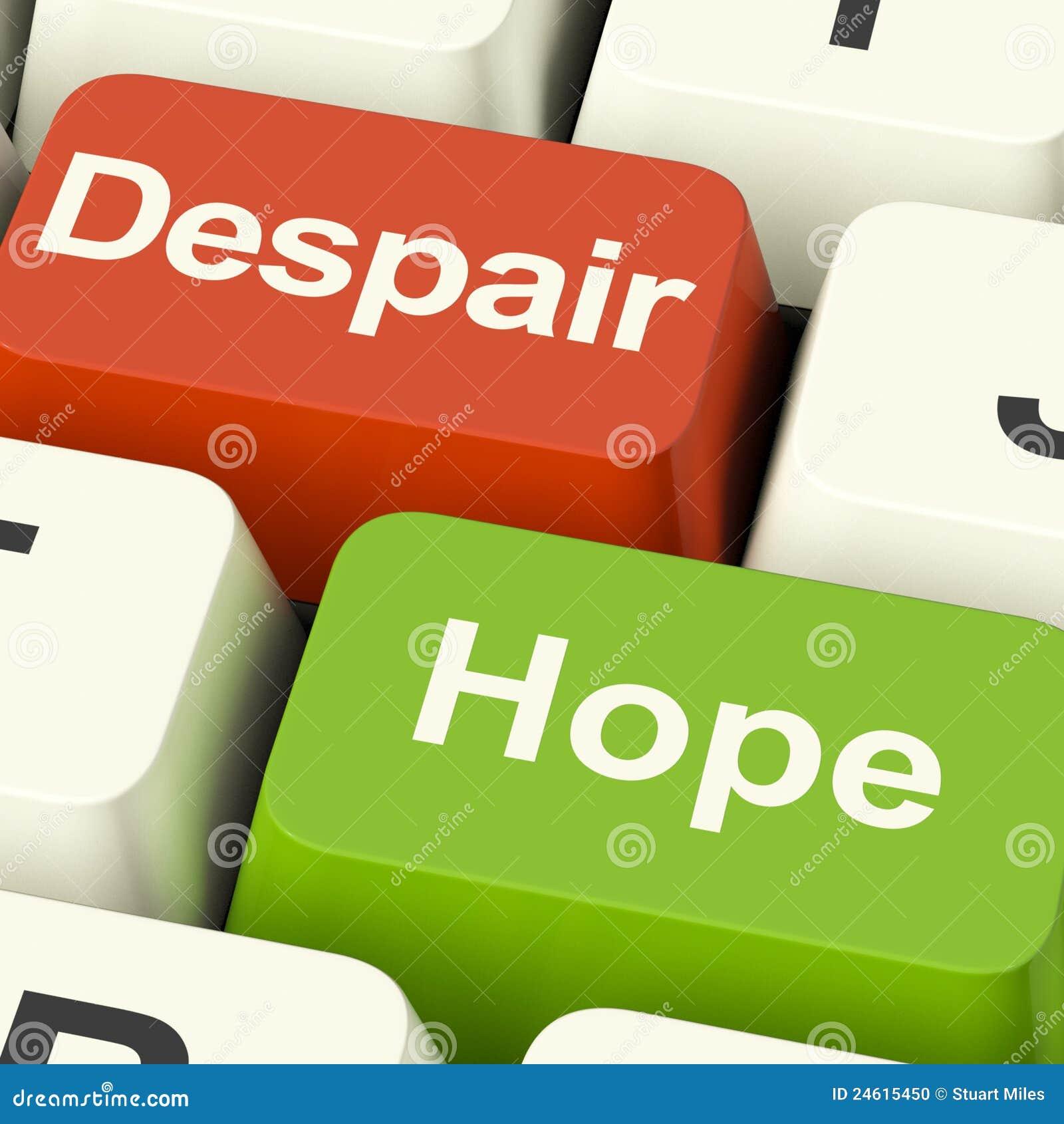 Claves de ordenador de la desesperación o de la esperanza