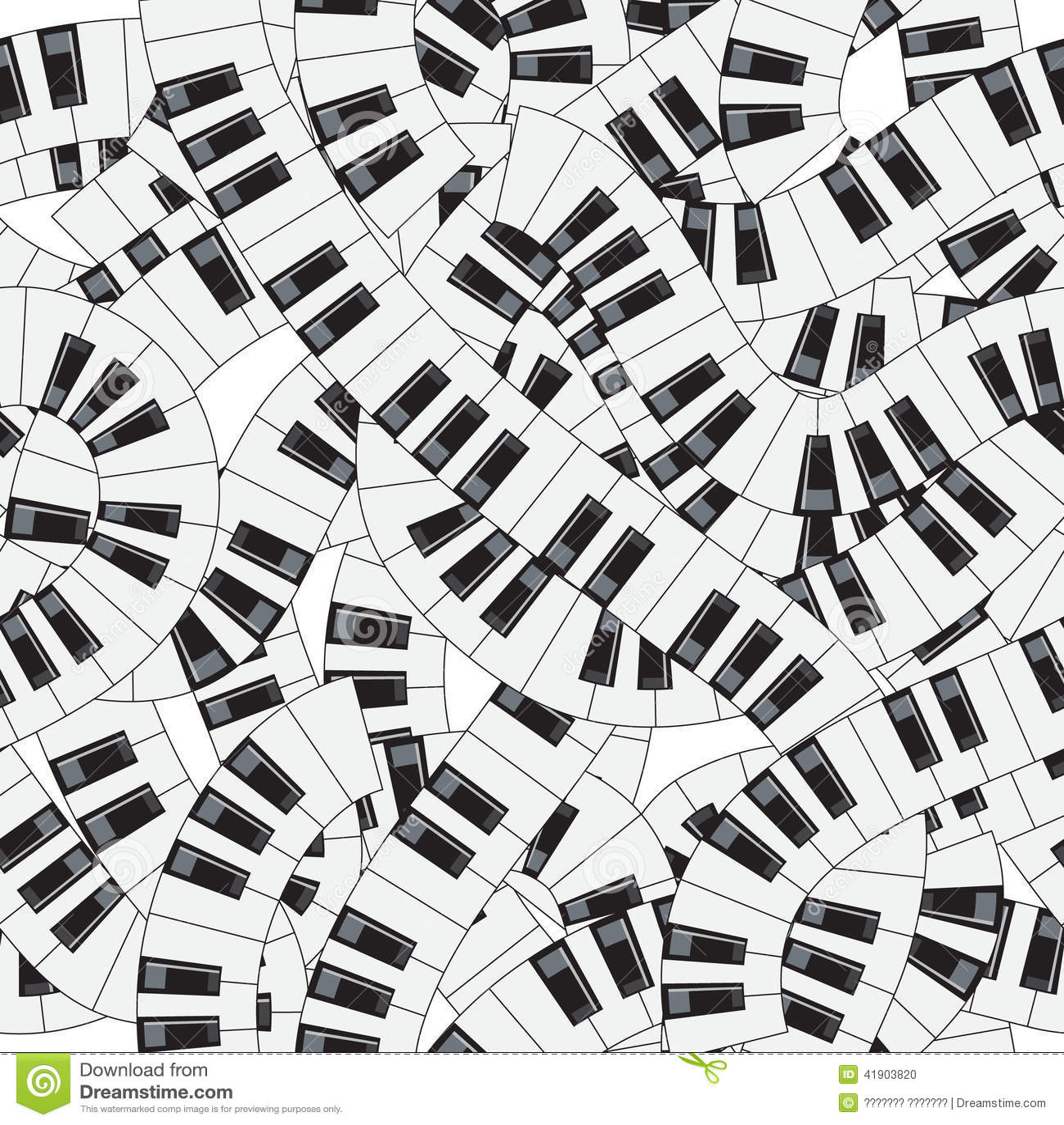 Claves del piano Ilustración inconsútil del vector