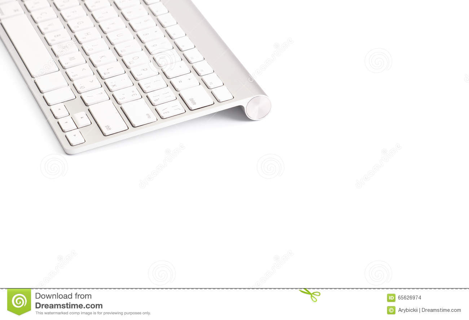 Clavier d ordinateur d isolement