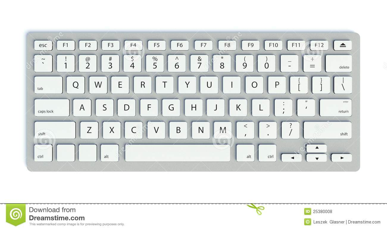clavier d 39 ordinateur moderne illustration stock image