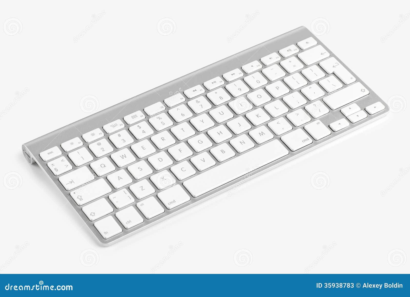 clavier d 39 ordinateur sans fil d 39 isolement sur le fond blanc photos stock image 35938783. Black Bedroom Furniture Sets. Home Design Ideas