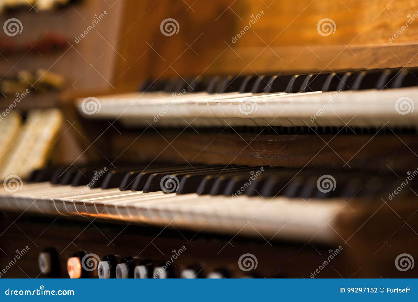 Clavier d organe d église