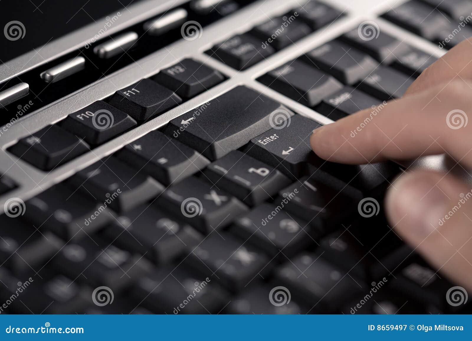 Clavier de doigts d ordinateur plus de