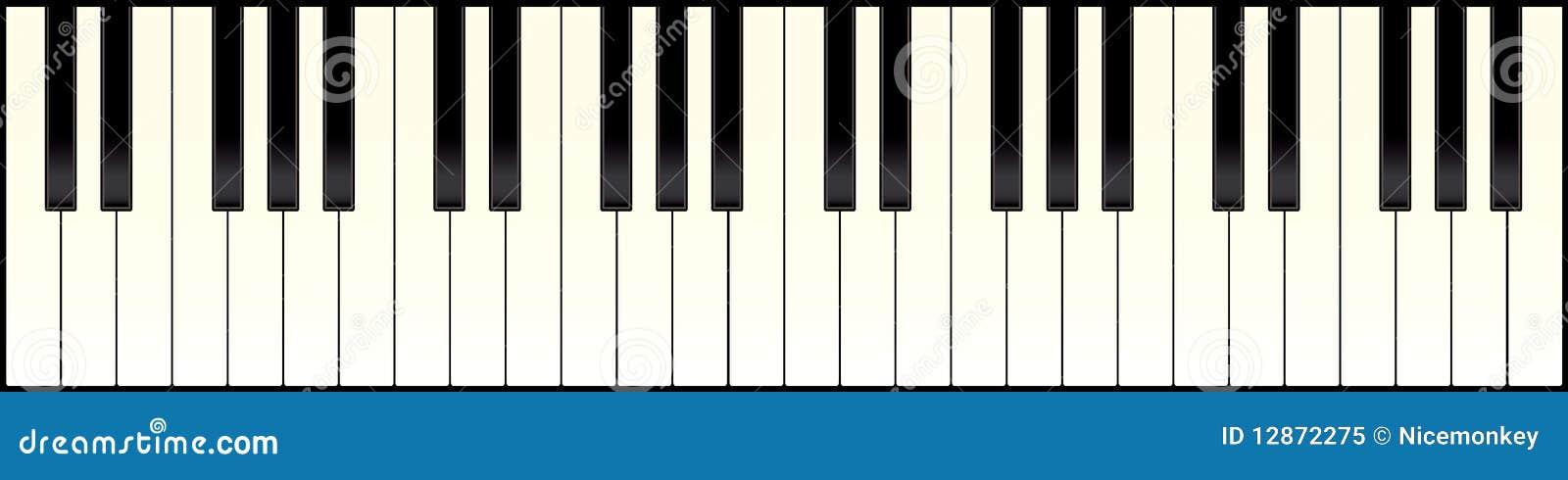 clavier de piano long photo libre de droits image 12872275. Black Bedroom Furniture Sets. Home Design Ideas