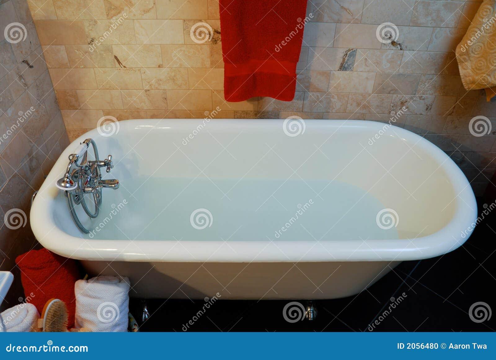 Clawfoot bathtub stock photo. Image of limestone, chrome - 2056480