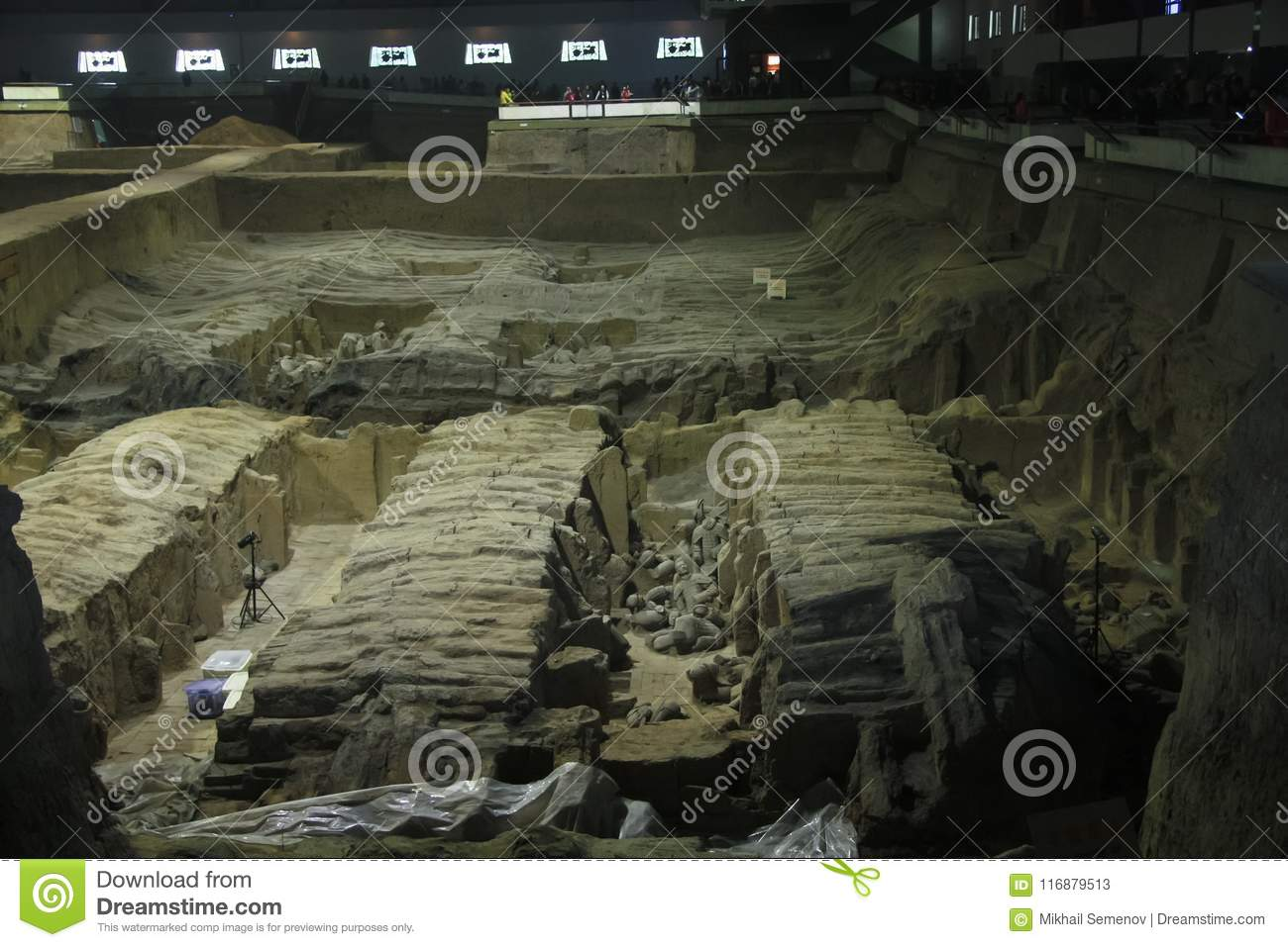 The clay army of the emperor Qin Shi Huang.