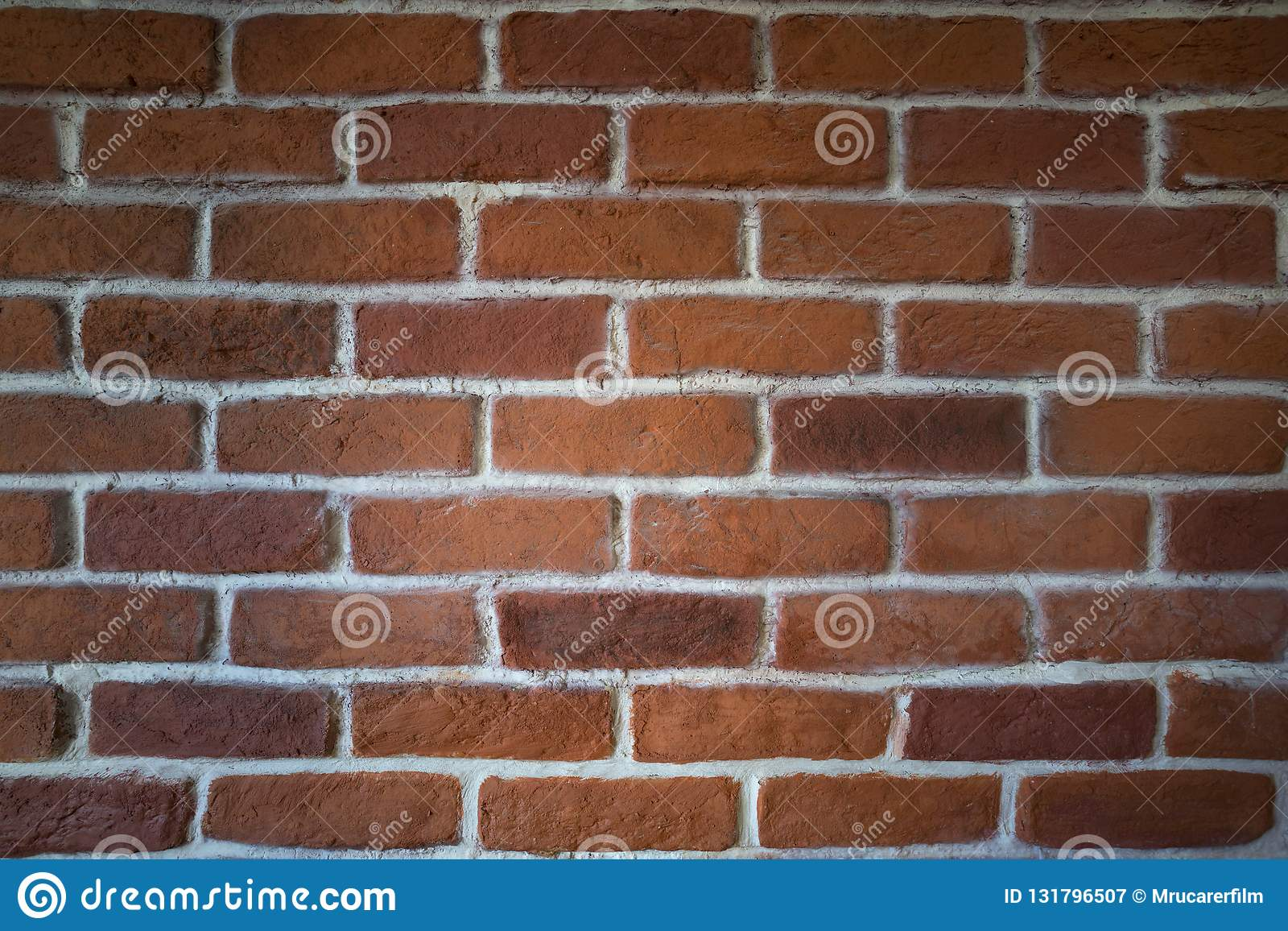 Clay Brick Wall rosso