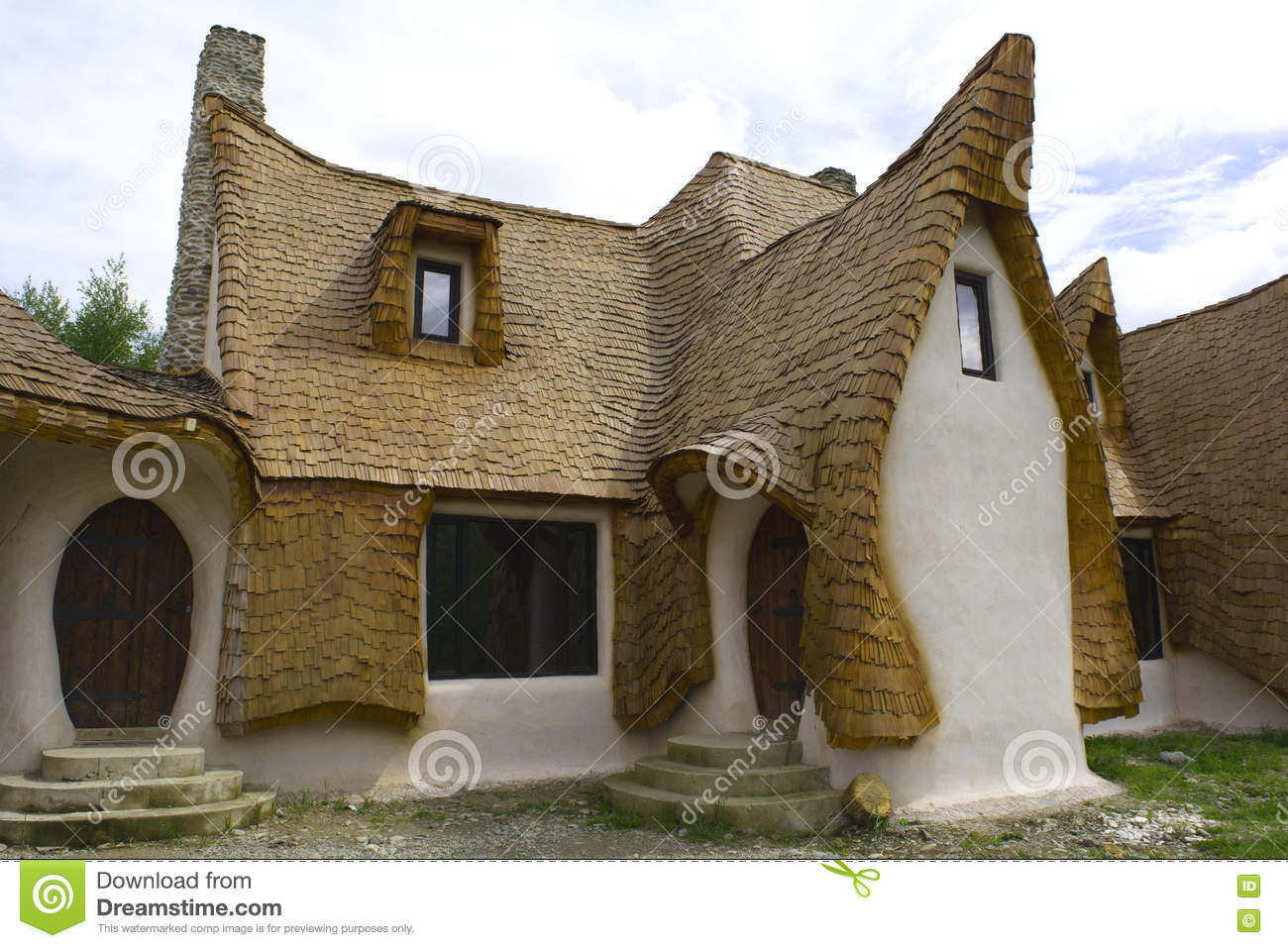 clay castle fairy valley romania 8 may 2016 sibiu roof