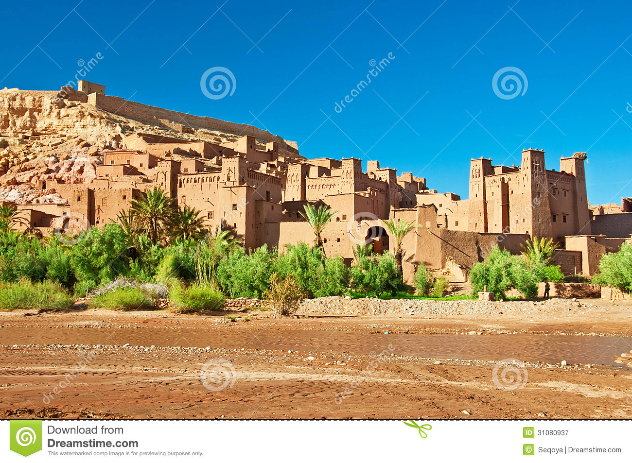 The clay city in the north of Africa
