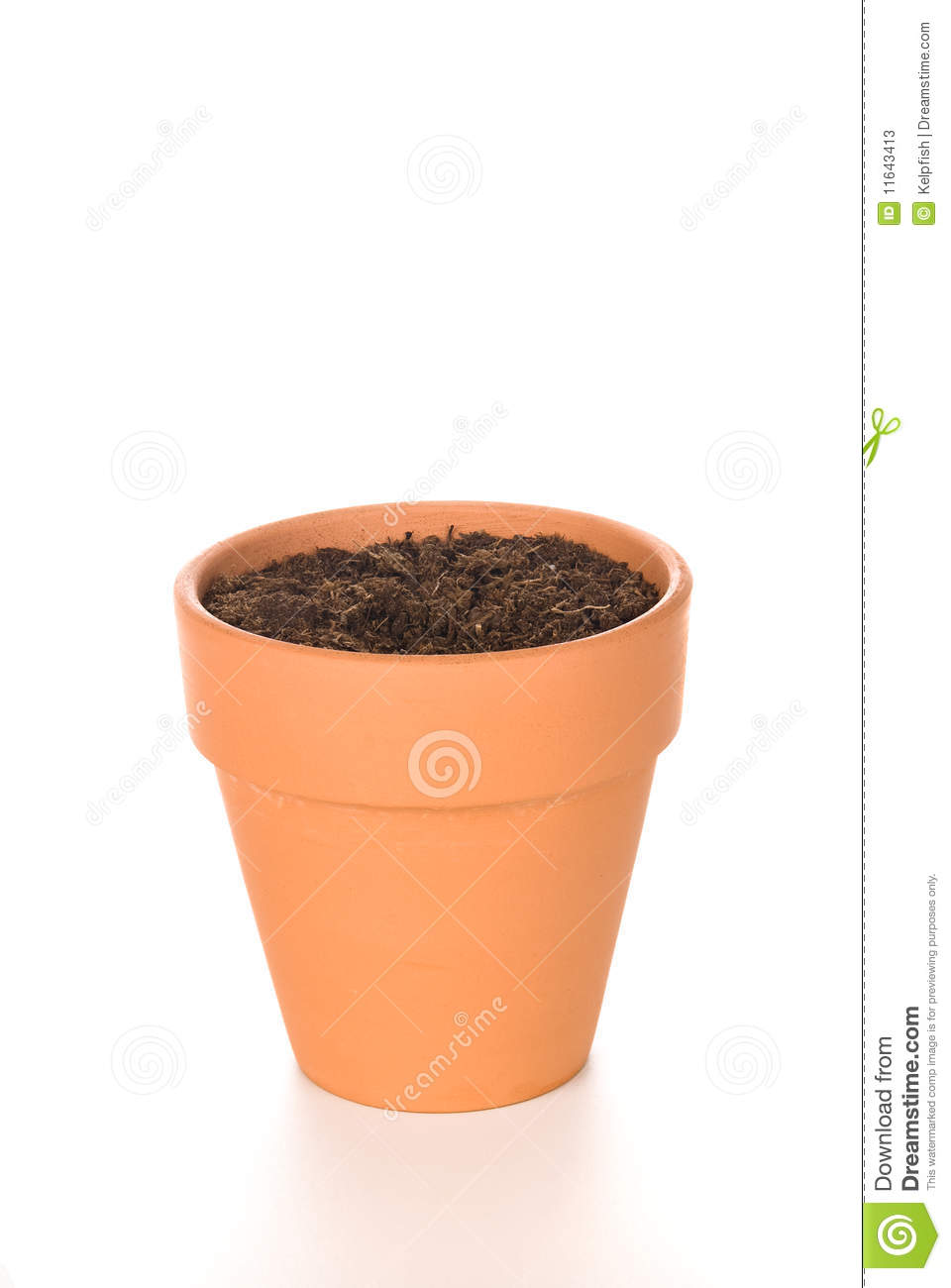 Clay Flower Pot with Soil  sc 1 st  Dreamstime.com & Clay Flower Pot with Soil stock image. Image of pottery - 11643413