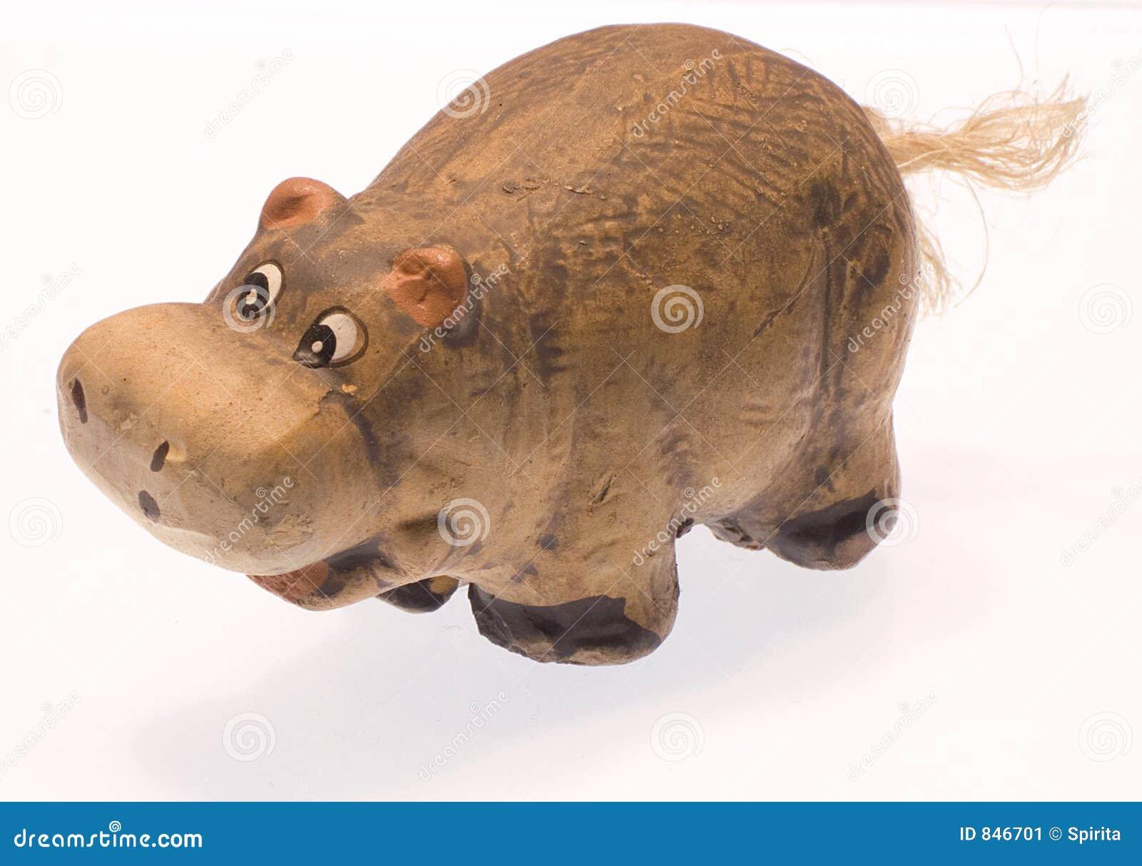 Clay hippopotamus I