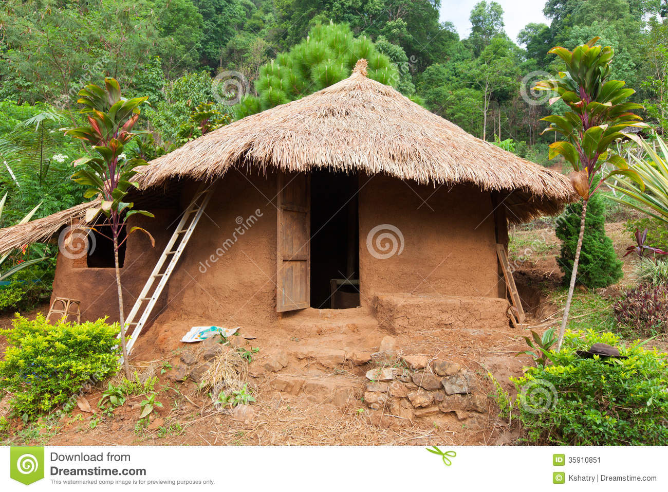 Clay House Stock Image Image 35910851