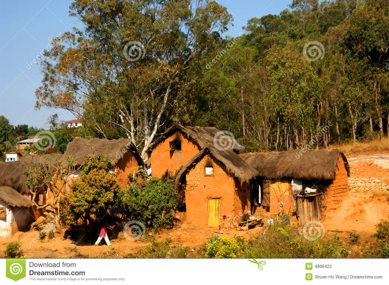 Clay Hut Stock Photography Image 4868422