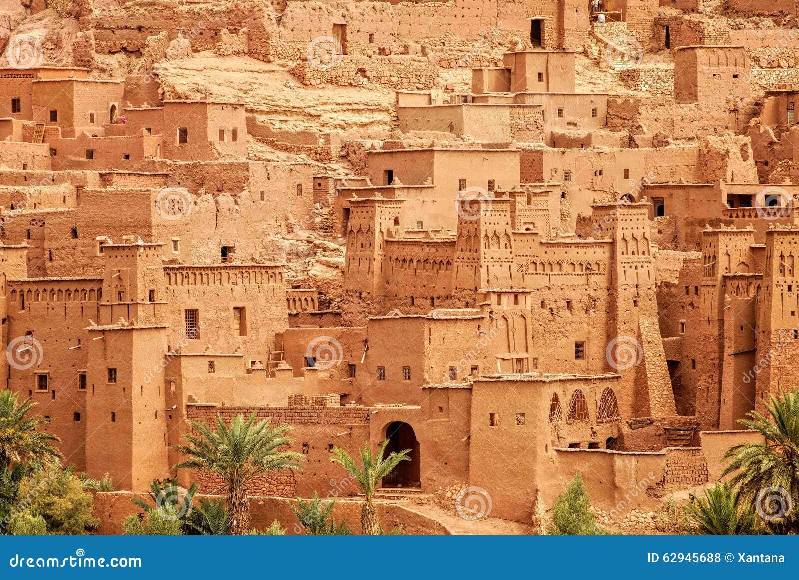 Clay kasbah Ait Benhaddou, Morocco