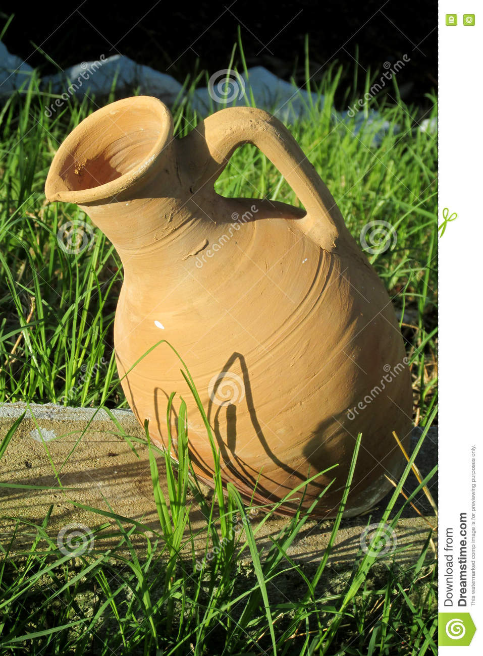 Clay Pot As Outside Decoration In The Yard Royalty Free