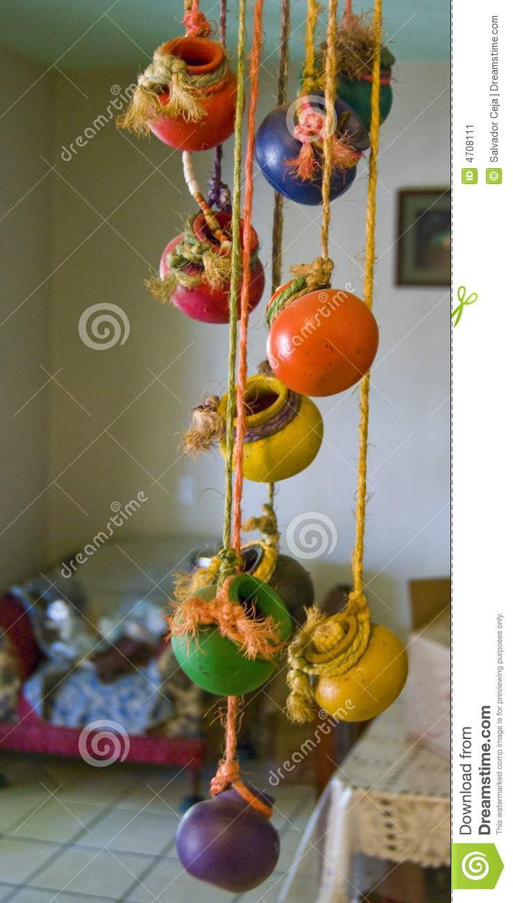 Clay Pot Chime Stock Image Image Of Blankets Colourful