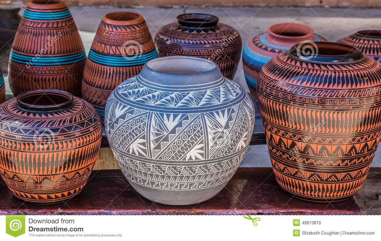 Clay Pots, Santa Fe, New Mexiko