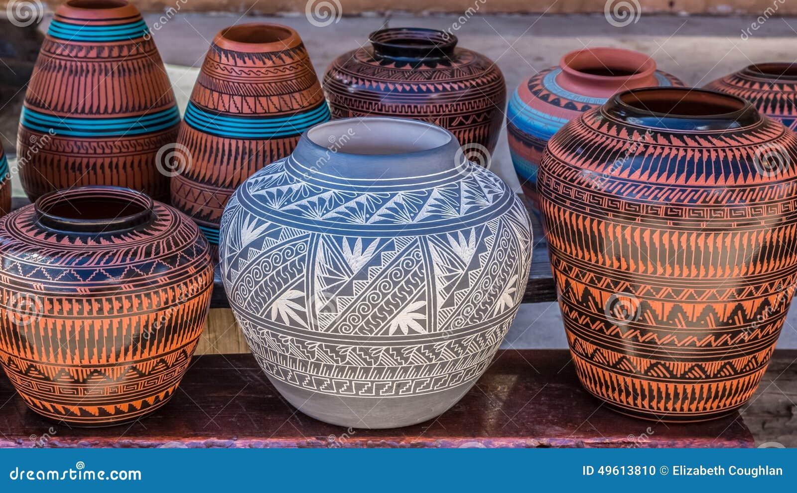 Clay Pots, Santa Fe, Nouveau Mexique