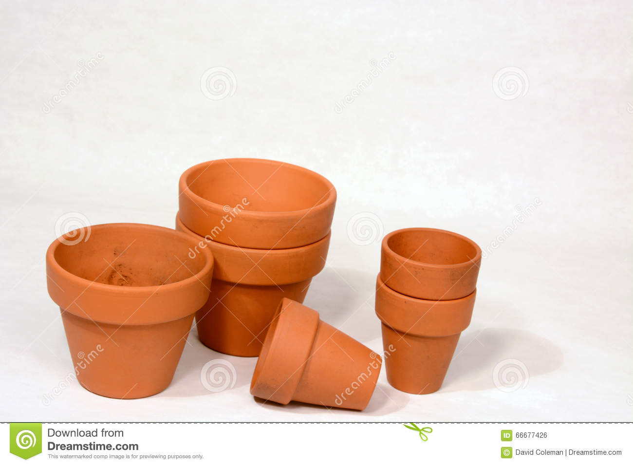 Clay Pots Stock Photo Image Of Pots Planters Gardening 66677426