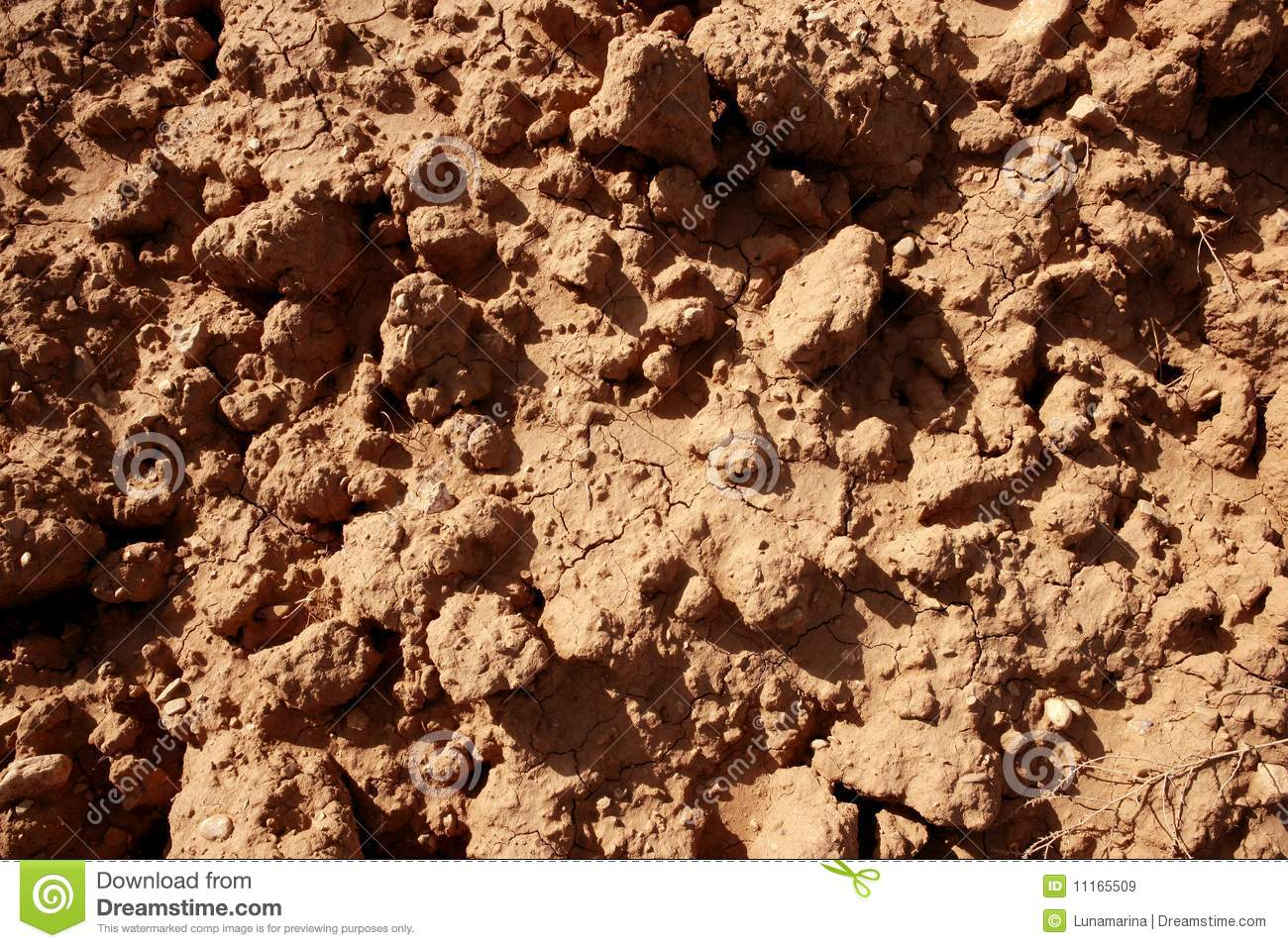 Clay red agriculture textured soil royalty free stock for Soil texture definition