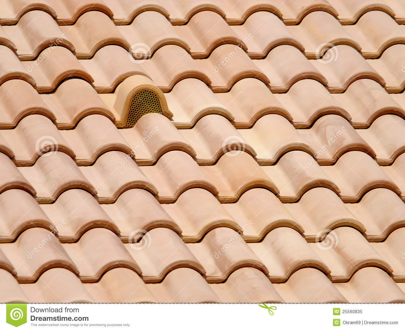 Clay roof tiles royalty free stock photo image 25560835 Spanish clay tile