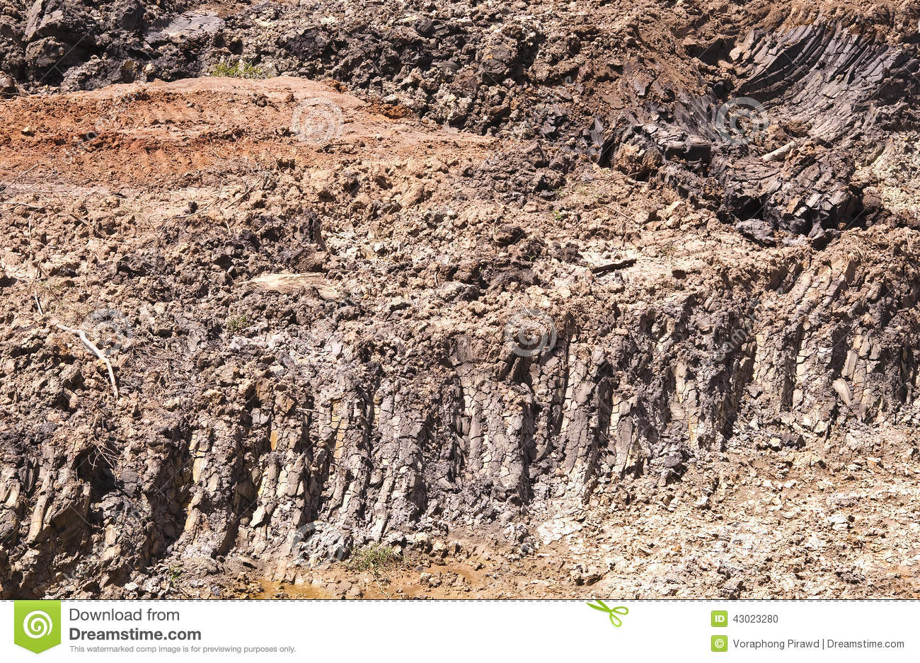 Clay soil stock photo image 43023280 for Clay potting soil