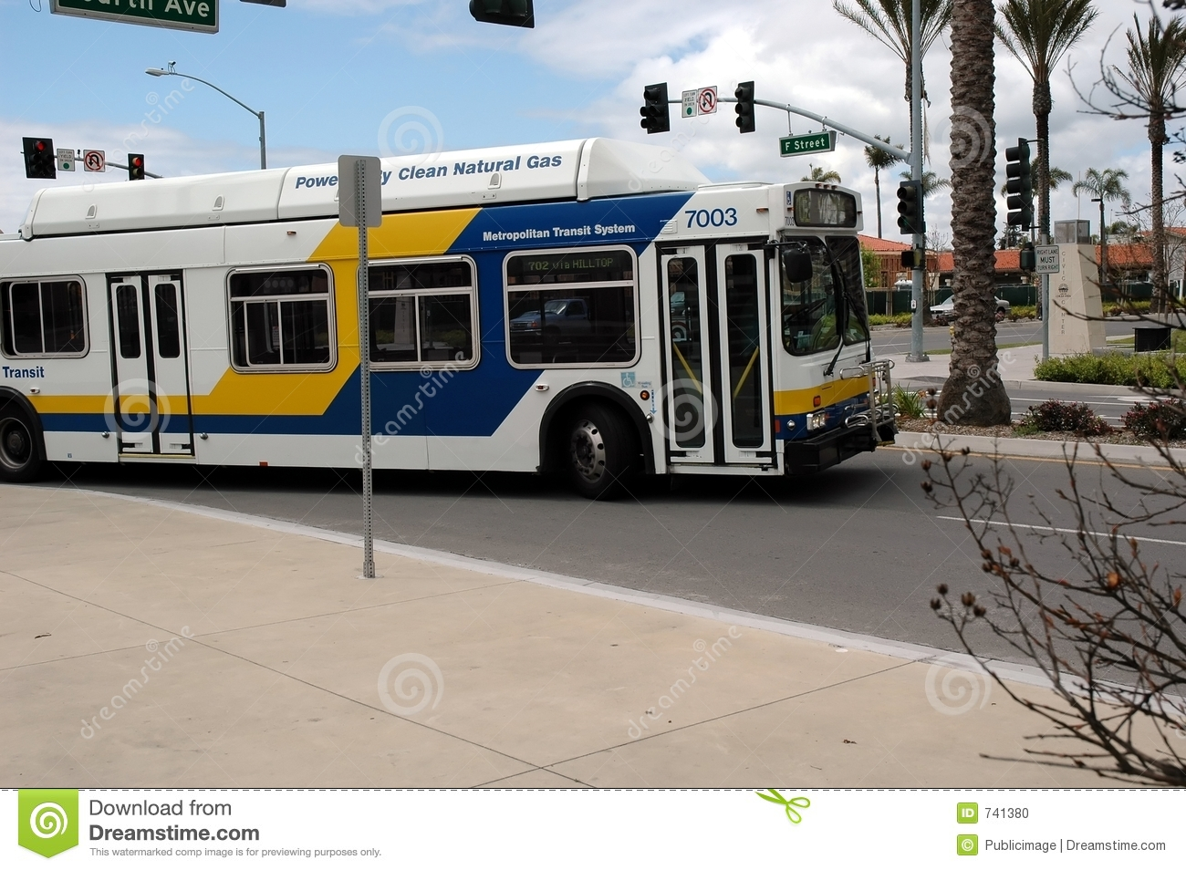 Gas Prices In California >> Clean Air Transit Bus Stock Photo - Image: 741380