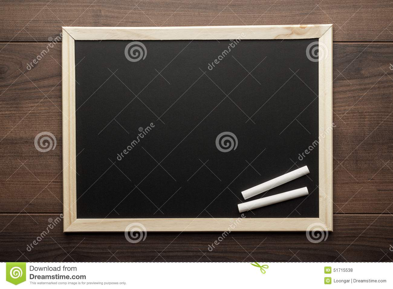 clean blackboard and chalk stock photo image 51715538. Black Bedroom Furniture Sets. Home Design Ideas