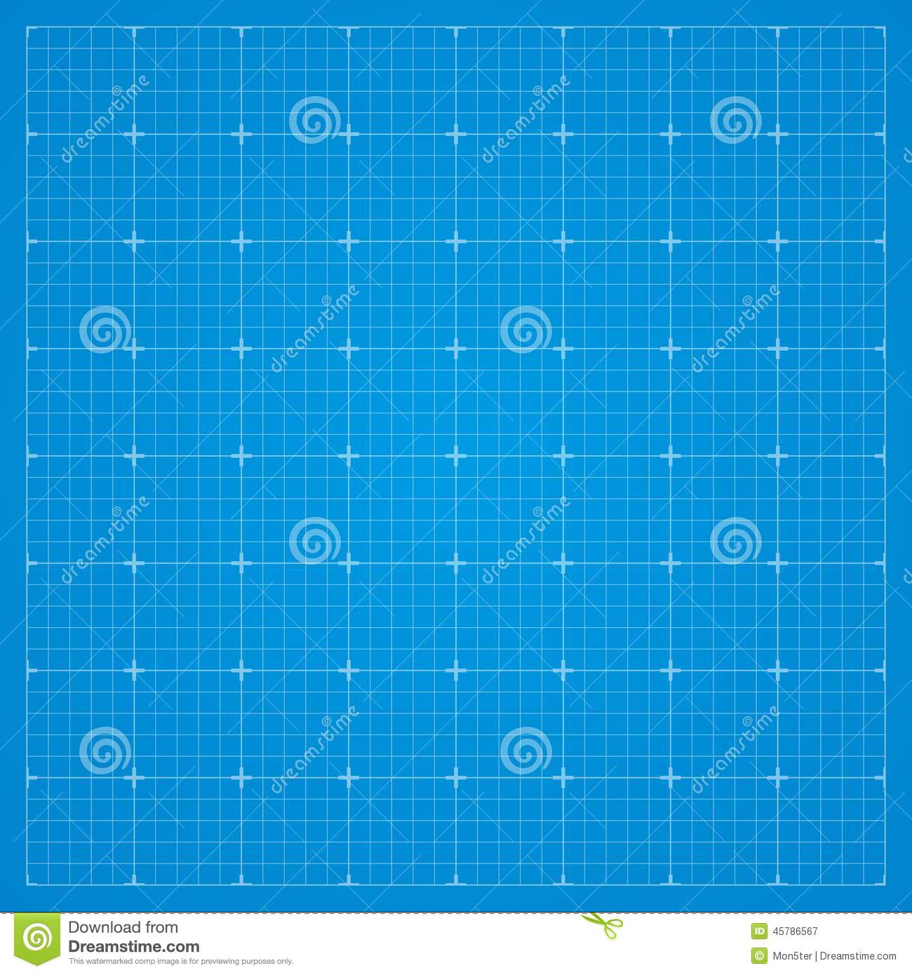 Download Clean Blueprint Background. Stock Vector   Illustration Of  Education, Blank: 45786567