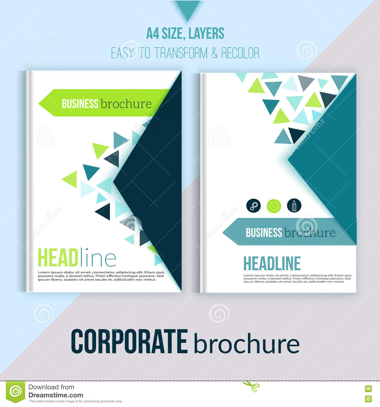 clean brochure design annual report cover template magazine