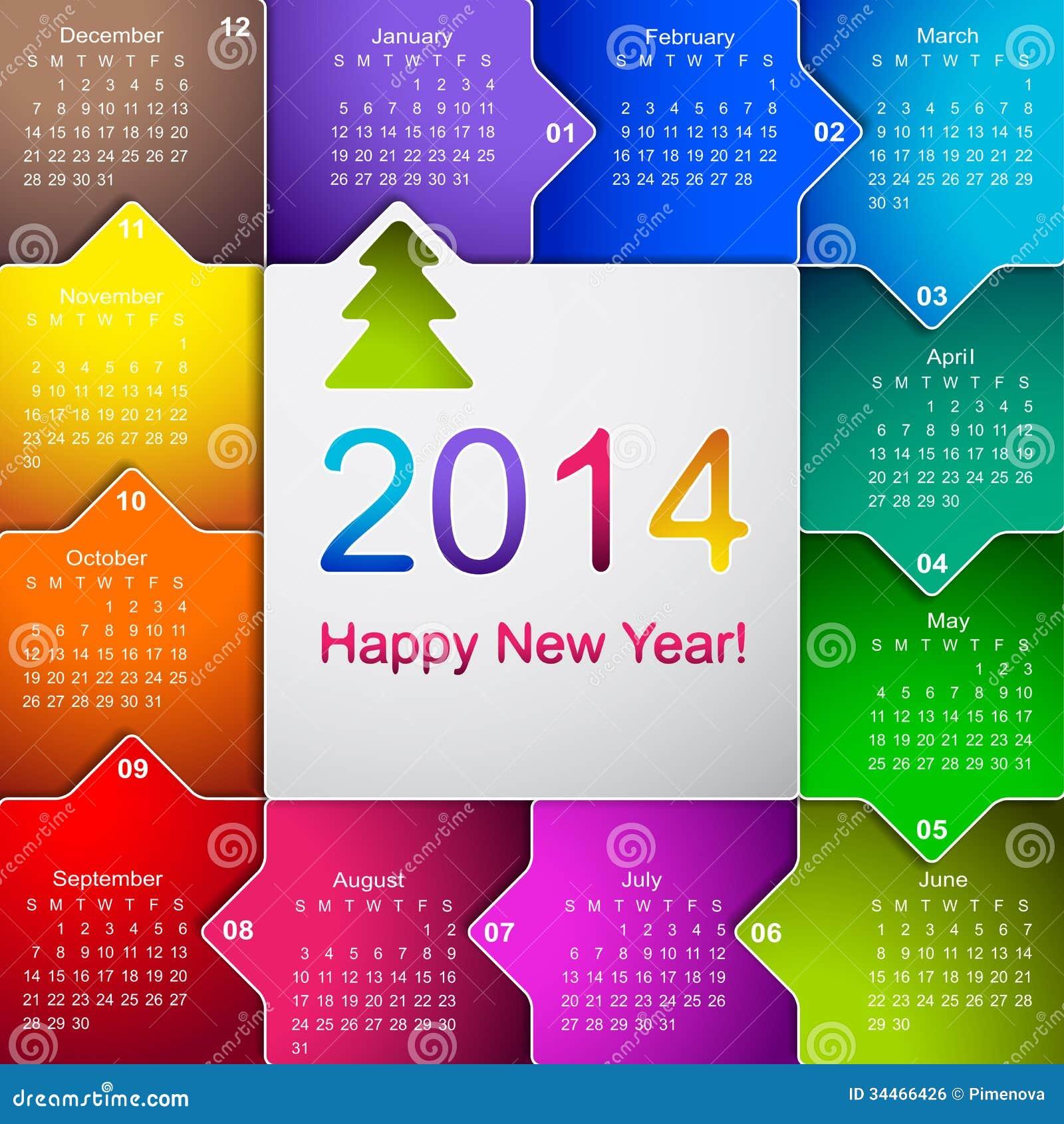 corporate wall calendar