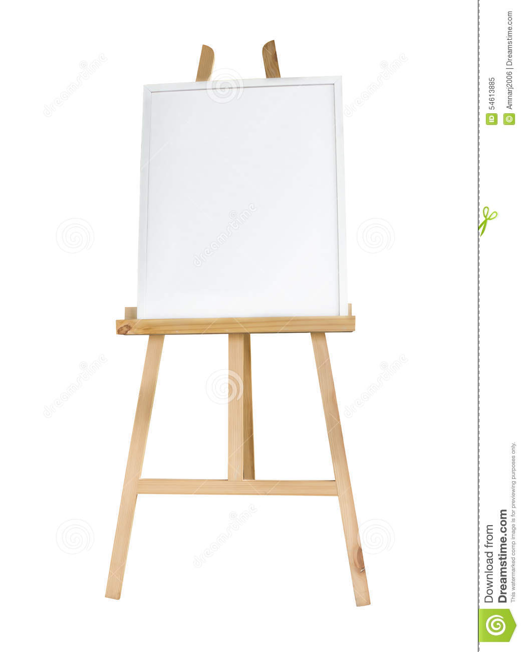 Clean canvas or board on a easel stock image image of for What is canvas board
