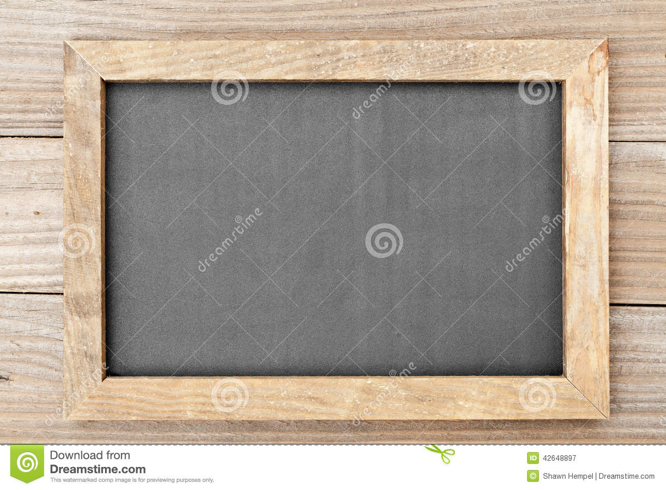 Clean Chalkboard On Wooden Table Stock Photo Image: 42648897