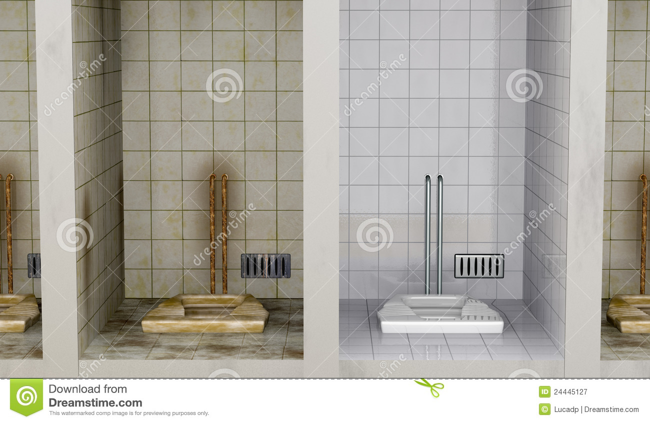 Clean And Dirty Stock Illustration Image Of Rusty