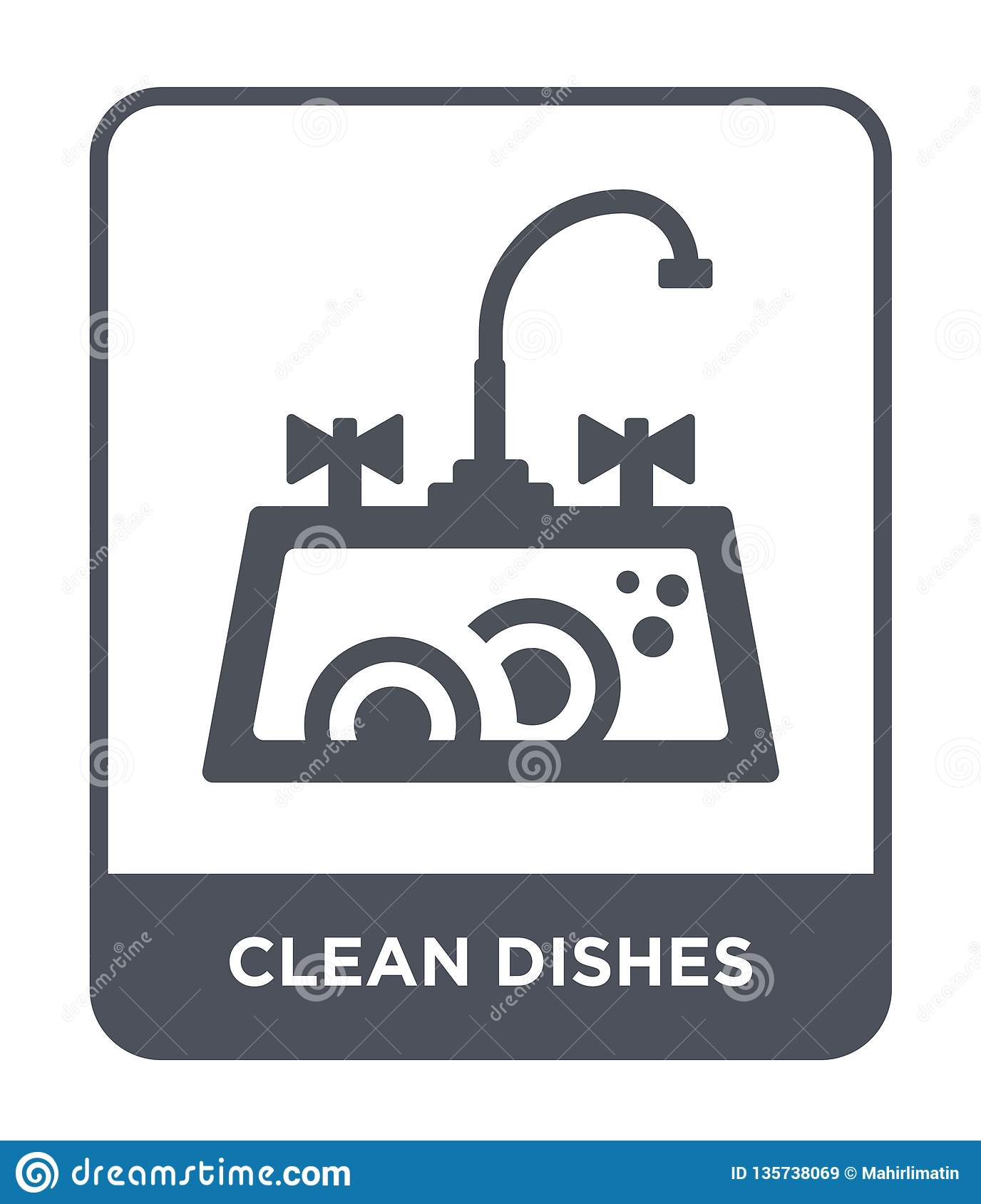 clean dishes icon in trendy design style. clean dishes icon isolated on white background. clean dishes vector icon simple and