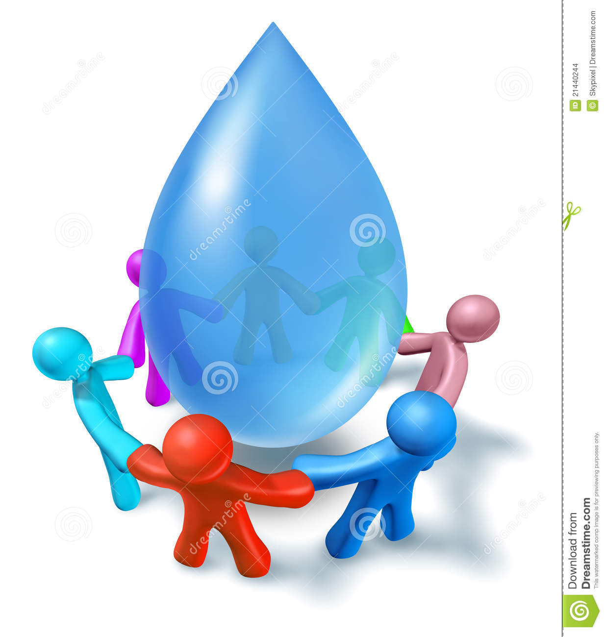 Clean drinking water symbol stock illustration image for Potable water
