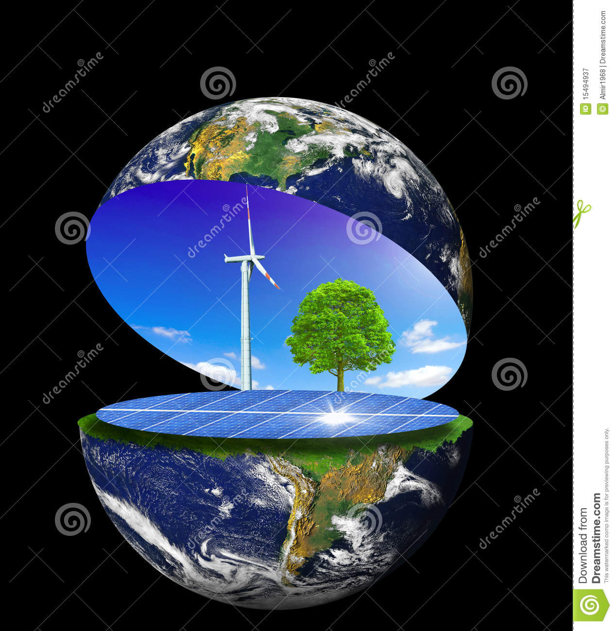 Royalty Free Stock Photography Clean Earth Image15494937
