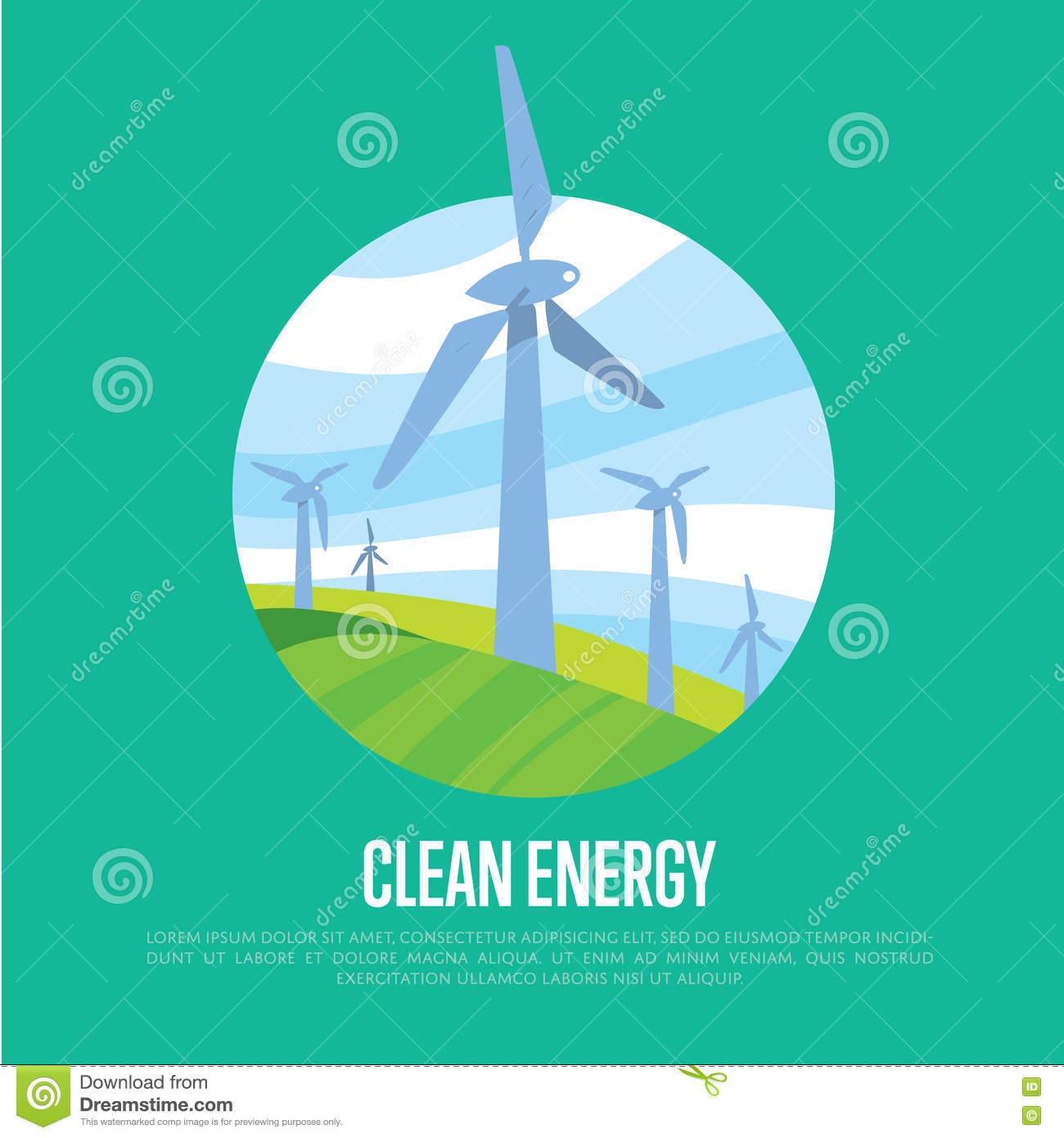 energy generation concept  vector illustration