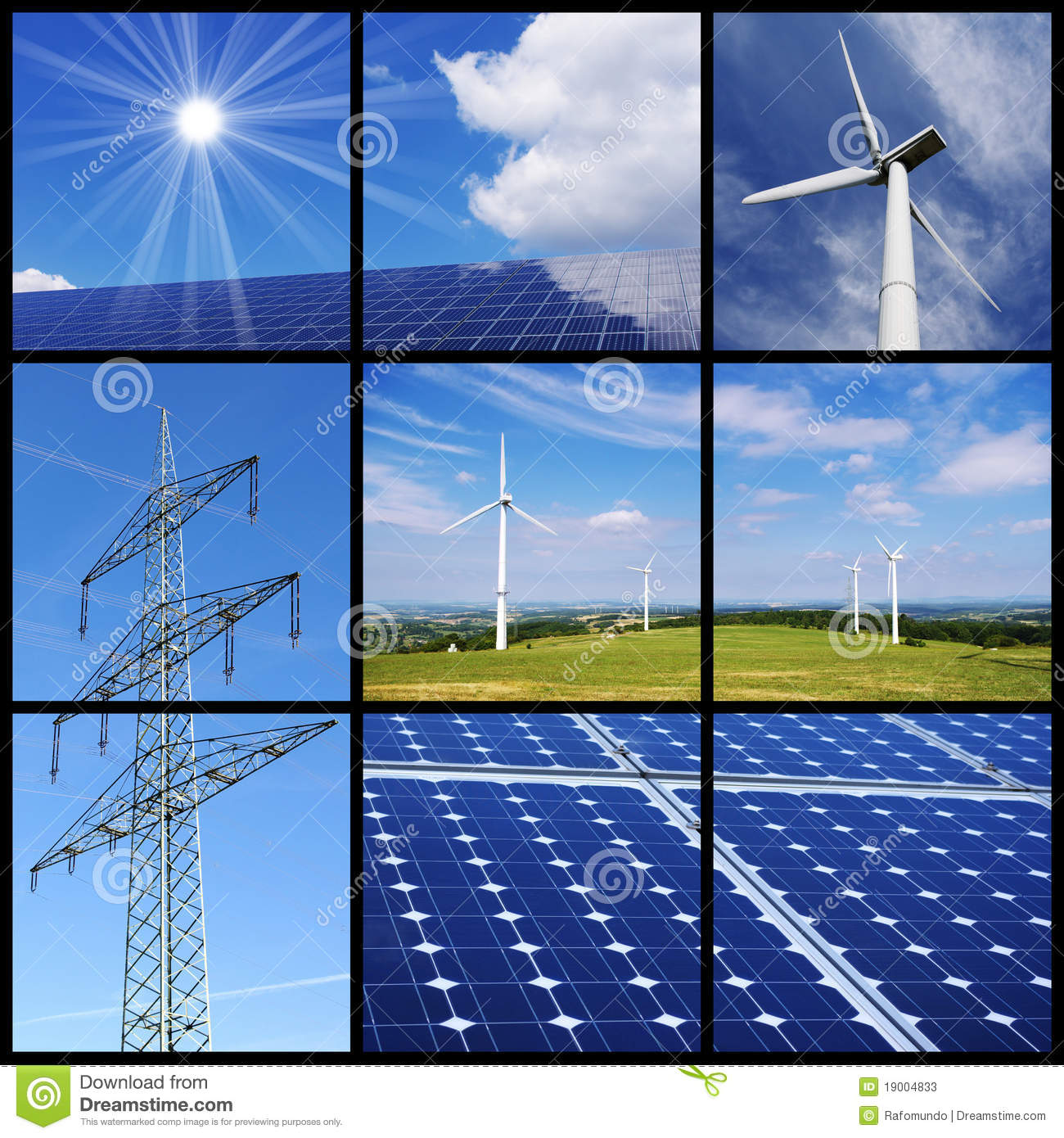 Clean Energy Collage Stock Photos Image 19004833