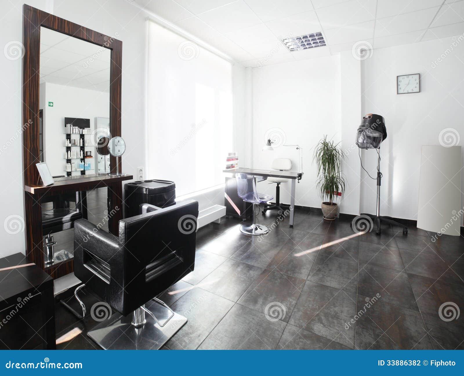 Clean european hair salon stock photo. Image of attractive - 33886382