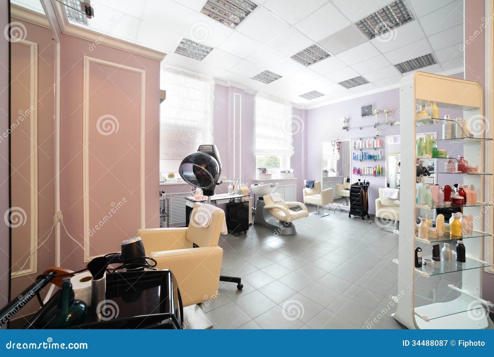 Clean european hair salon royalty free stock photography for A fresh start beauty salon