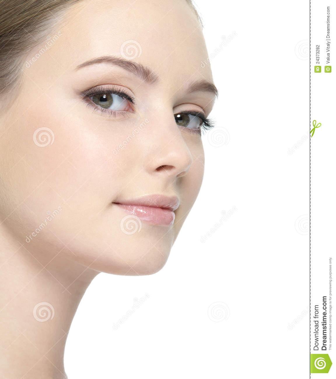 Clean Face Of Woman St...