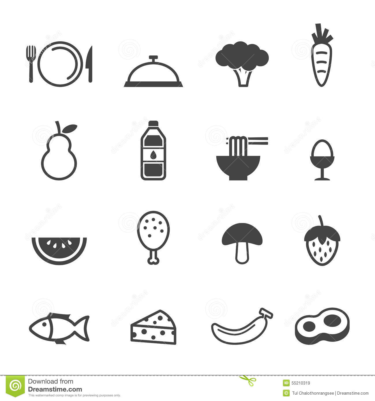 Clean food icons